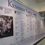 The Kennedy's family tree on display at the JFK Hyannis Museum. Courtesy of the JFK Hyannis Museum