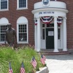 A statue of President John F. Kennedy welcomes visitors to the JFK Hyannis Museum on Main Street. Courtesy of the JFK Hyannis Museum