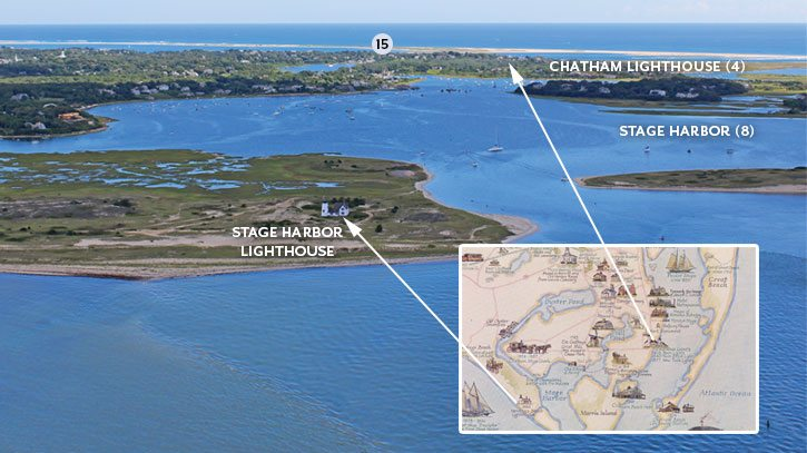 The Changing Shape of the Cape & Islands: Chatham's Monomoy Islands and Stage Harbor, Cape Cod Life, April 2017 | capecodlife.com