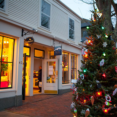 Christmas trees and shops on nantucket