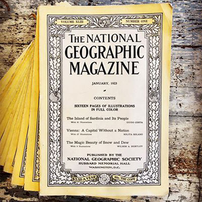 Vintage National Geographic Magazine
