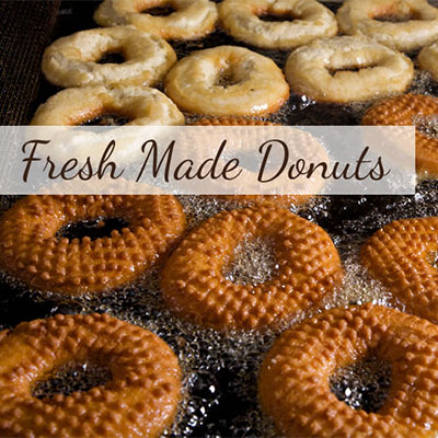 Fresh made donuts