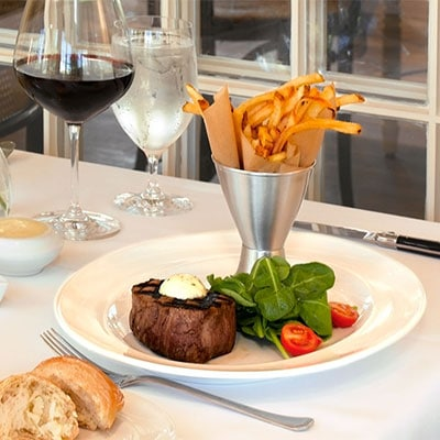 Steak Frites and Wine